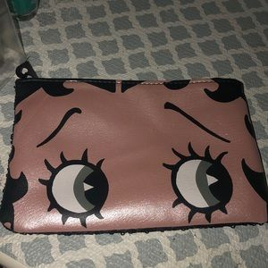 Pink and black makeup/pencil case